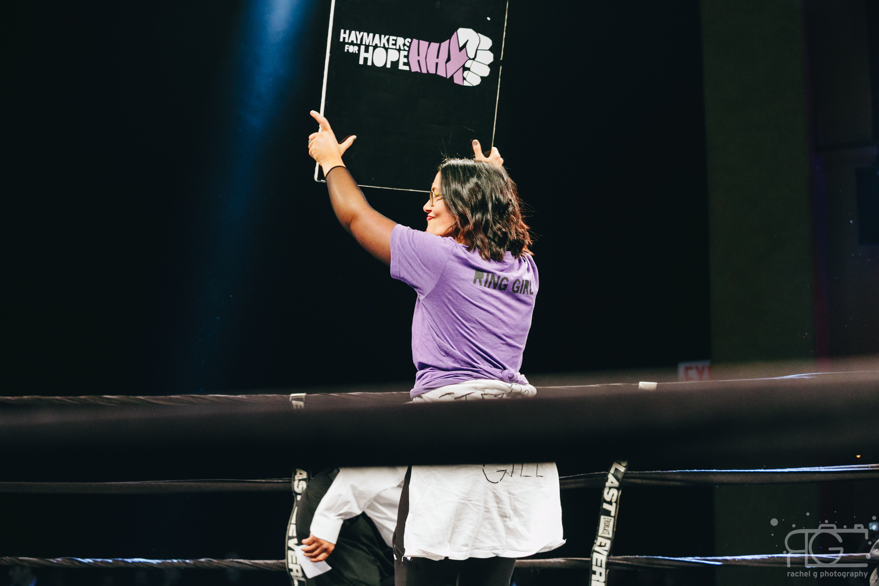 Gina in the ring at Hope NYC VII